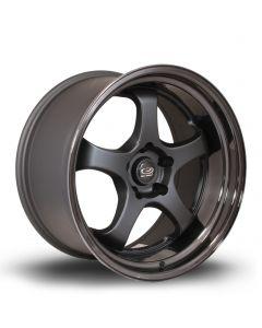 Rota D2EX 18x10 5x114mm ET12 Flat Black + Gloss Black Lip