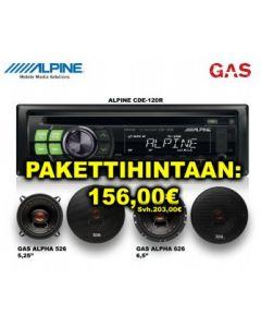 SOITINPAKETTI 1 Alpine 180R + GAS ALPHA 526