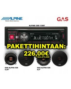 SOITINPAKETTI 4 CDE-173BT + GAS ALPHA 526 + GAS ALPHA 626